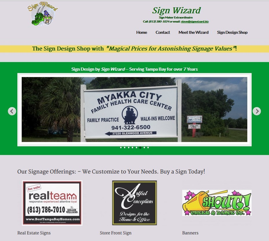 sign wizard website