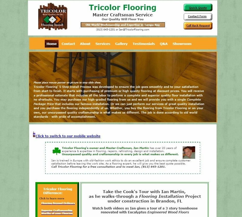Tricolor Flooring Website