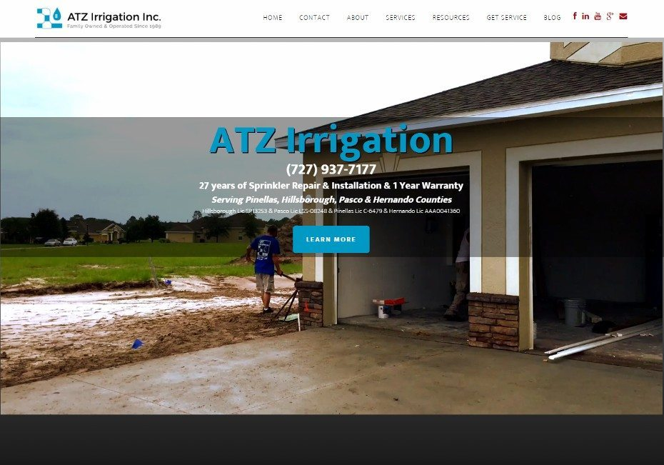 ATZ Irrigation is Tampa Bay sprinkler repair and sprinkler installation company
